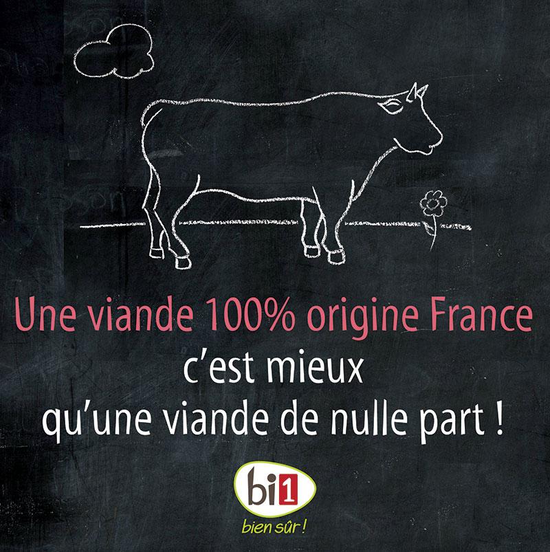 Une viande 100% d'origine France, c'est mieux qu'une viande de nulle part !